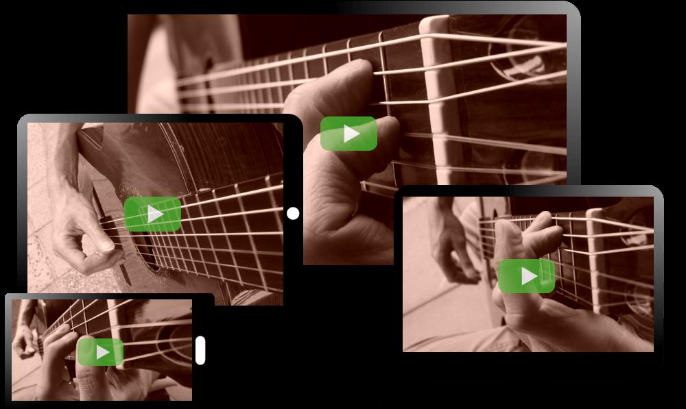 gitaarles video cursus schermen