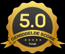 De gemiddelde scoren van alle reviews van goedlichaam is 5 sterren