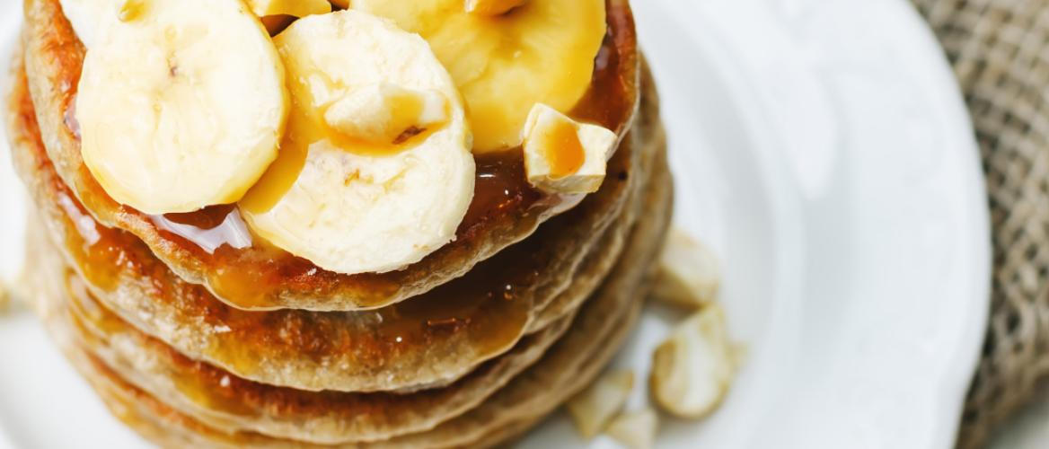Receptuur: Luchtige vegan bananen pannenkoeken
