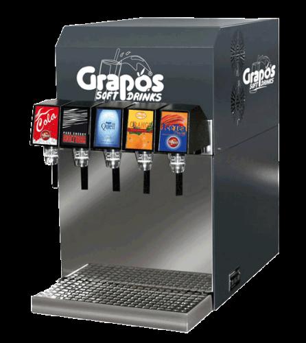 Grapos X5 postmix machine om frisdranken mee te tappen