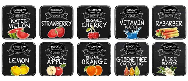 10 verschillende smaken Brooklyn Limonade