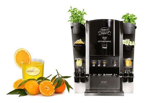 Vruchtensappen en sapdispensers voor hotels
