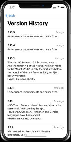 applicatie update