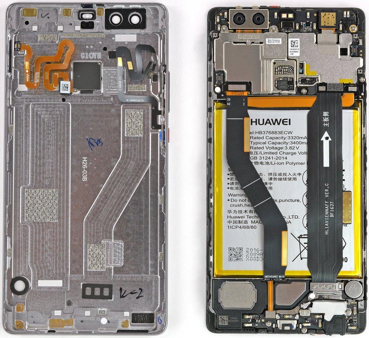 Huawei P9 Plus scherm