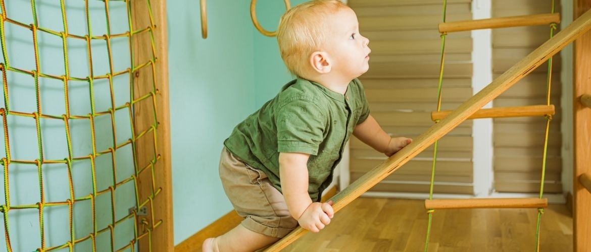 Jumping from high surfaces; exercises for toddlers gym classes