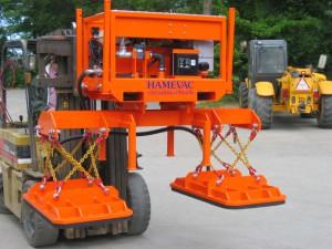 Vacuüm hijsunit Hamevac VHU-10000-BER kompleet met traverse en 2 zuignappen