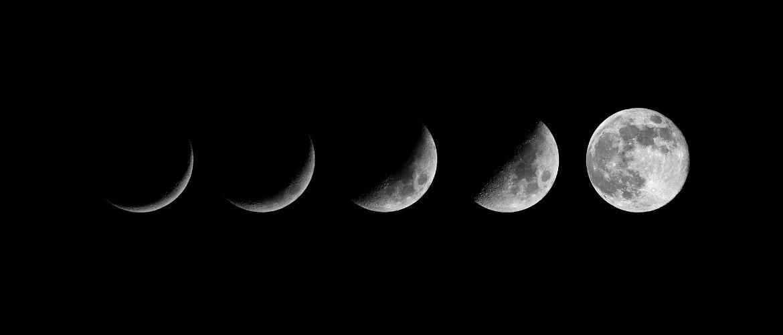 De 8 fasen van de maan