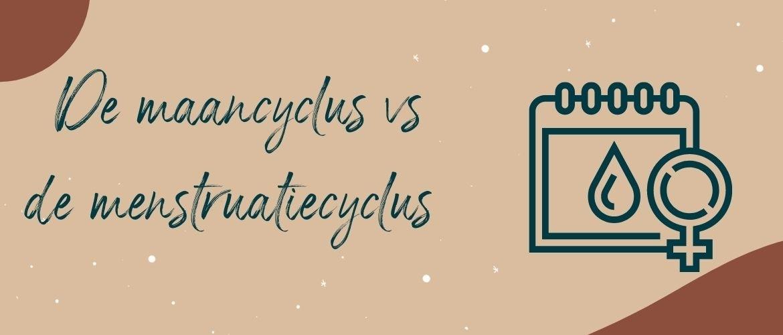 De maancyclus versus de menstruatiecyclus
