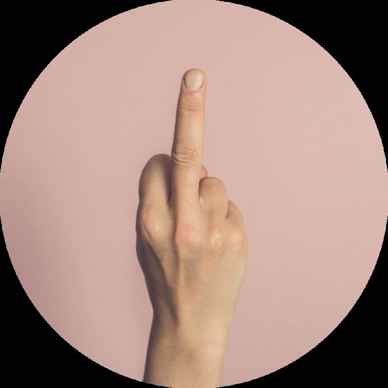 Handegebaar-middelvinger