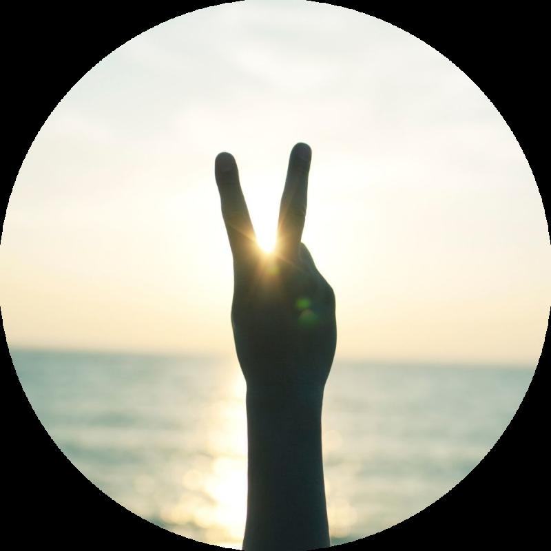 Handgebaar-peace-teken