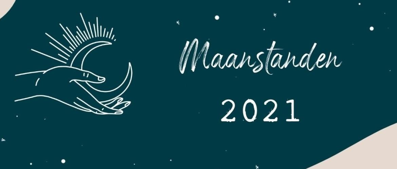 De maanstanden in 2021