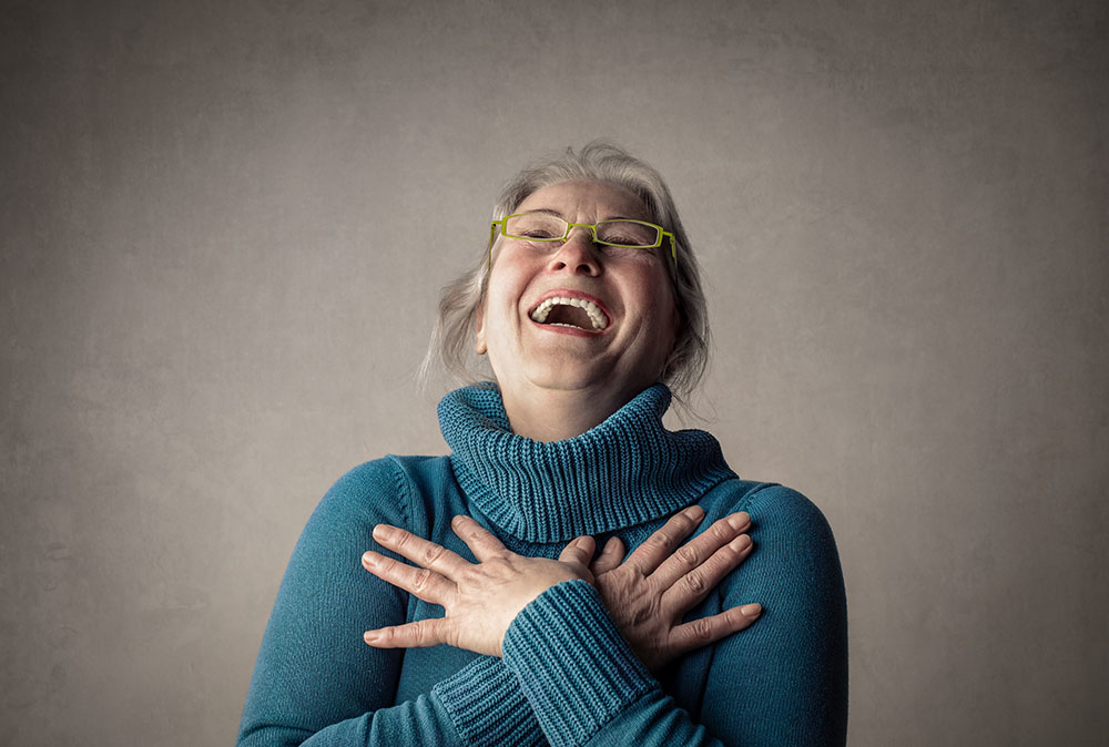 Lachen helpt tegen stress