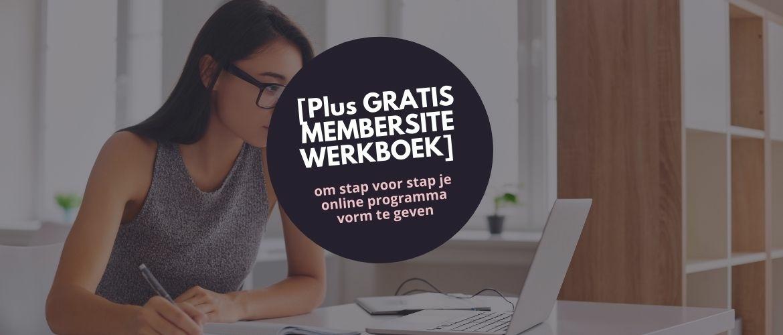 In 5 stappen je online programma maken [PLUS GRATIS Membersite Masterplan werkboek]