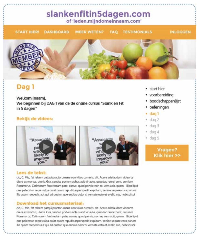 voorbeeld online programma