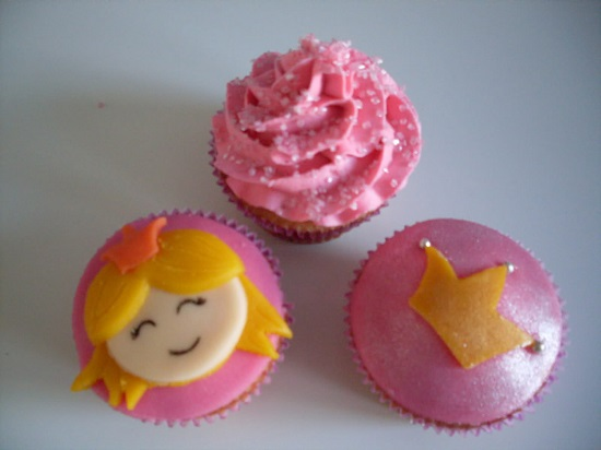 cupcakes thema prinsessen