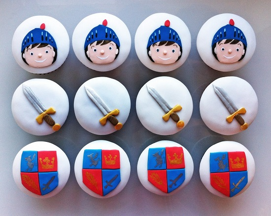 cupcakes thema ridders