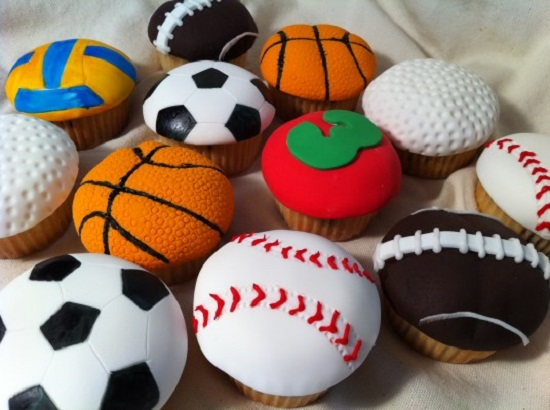 cupcakes thema sport