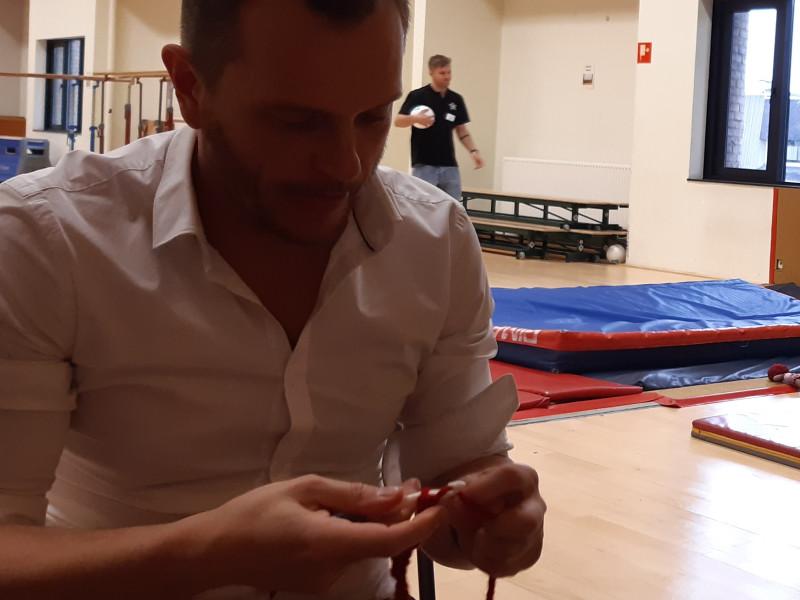 leren haken voor mannen