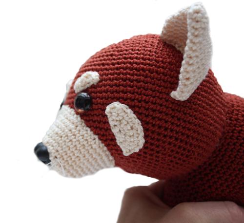 gehaakte rode panda