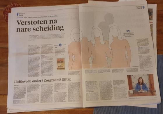 Artikel over scheiden in Noordhollands Dagblad