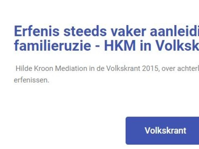 HKM in de Volkskrant