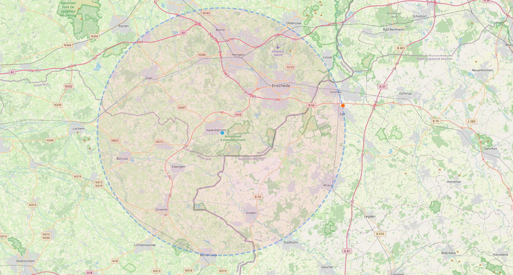 Taxatie Hinneke - werkgebied Twente en noordoosten Achterhoek