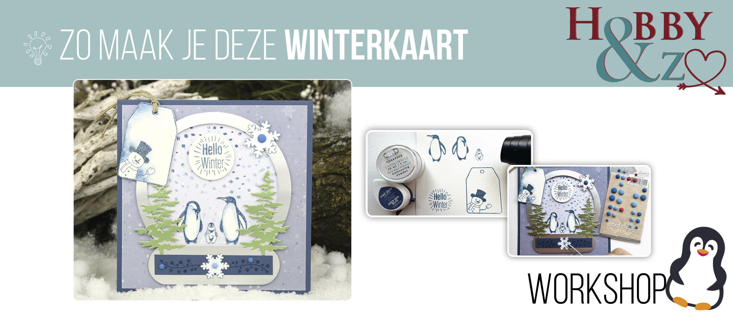 Masterclass Winterkaart met snowglobe en pinguïns p🐧