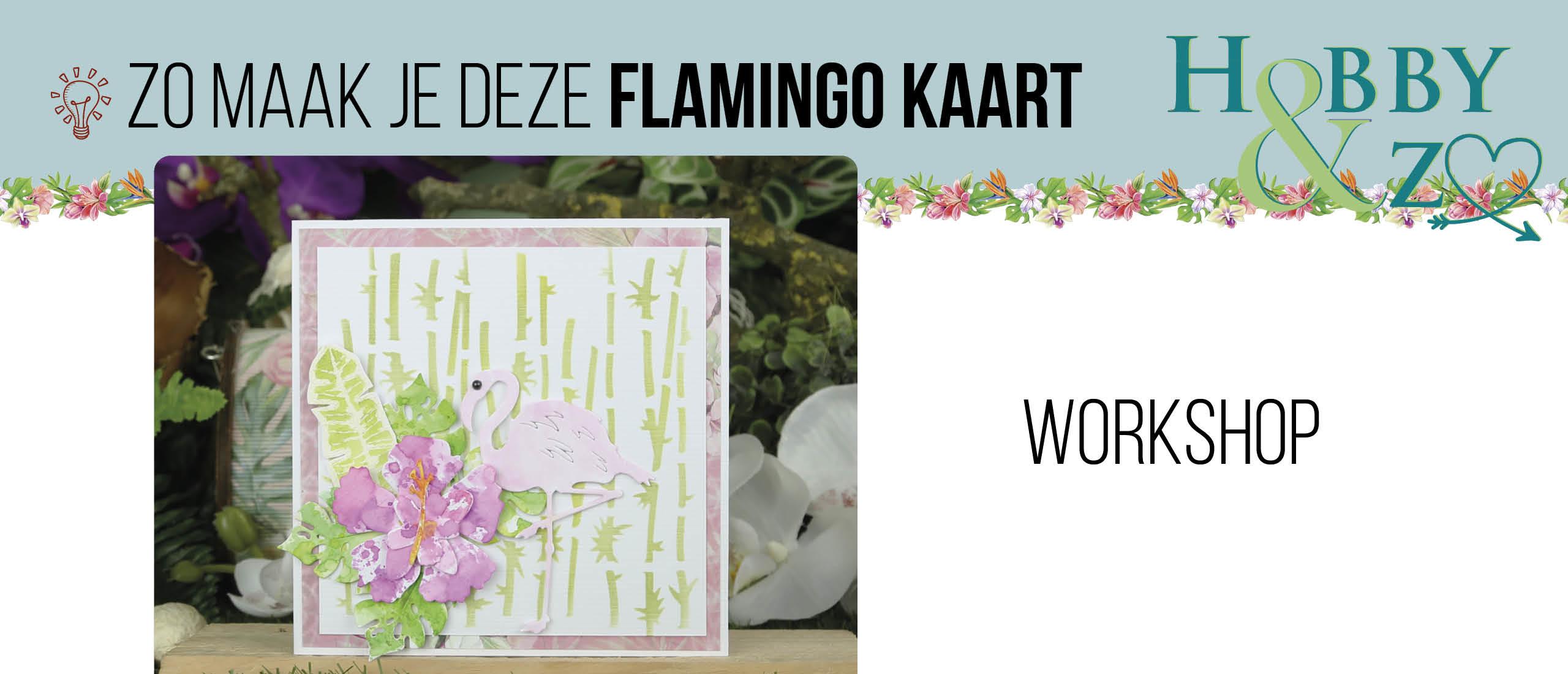Masterclass Flamingo kaart met inkttechniek
