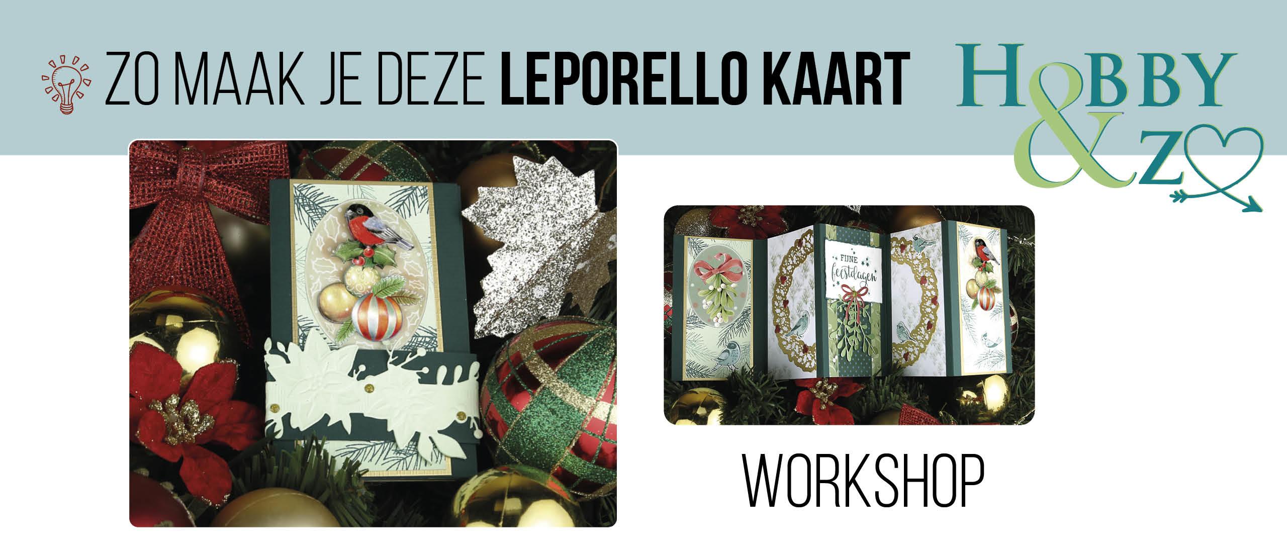 🎓 Workshop Leporello-kaart met vogel en kerstbal 🎄🐦
