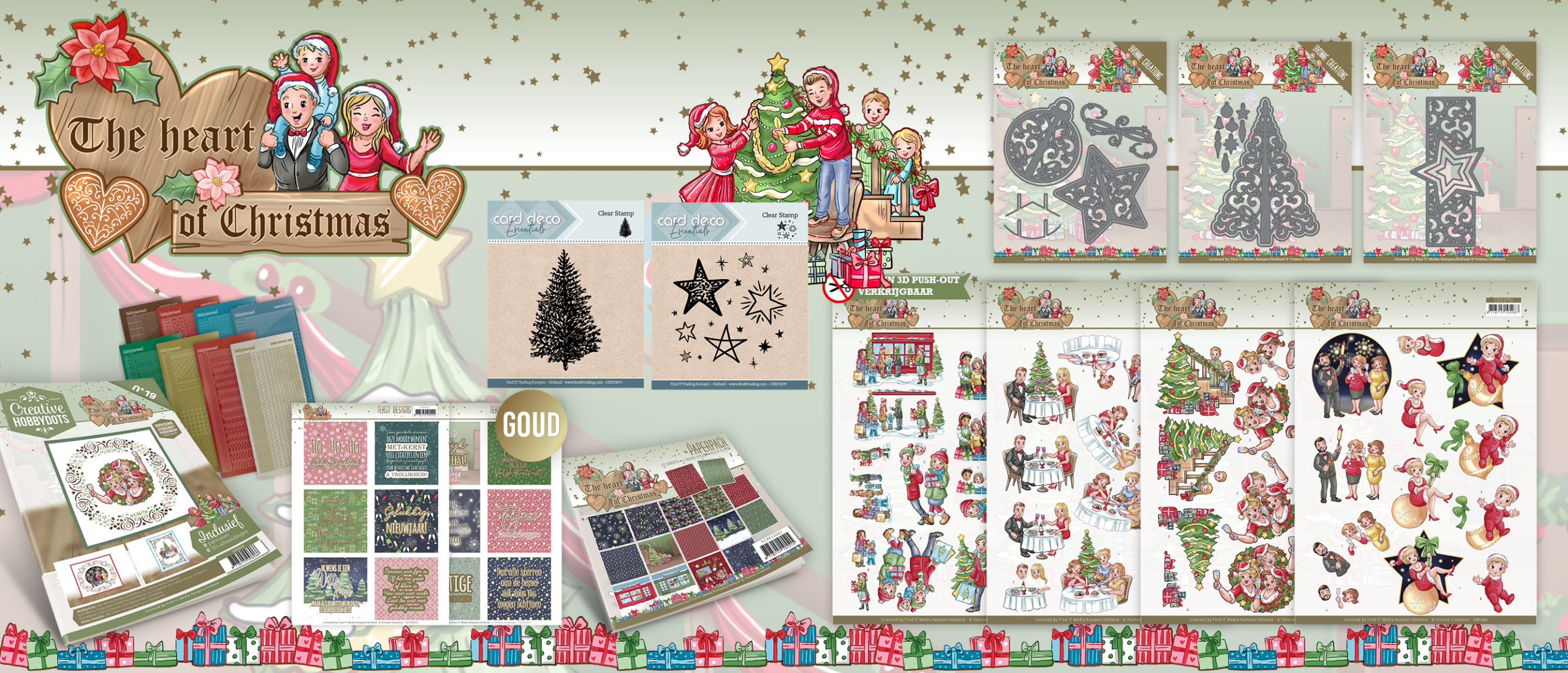 Nieuwe collectie: The Heart of Christmas - Yvonne Creations