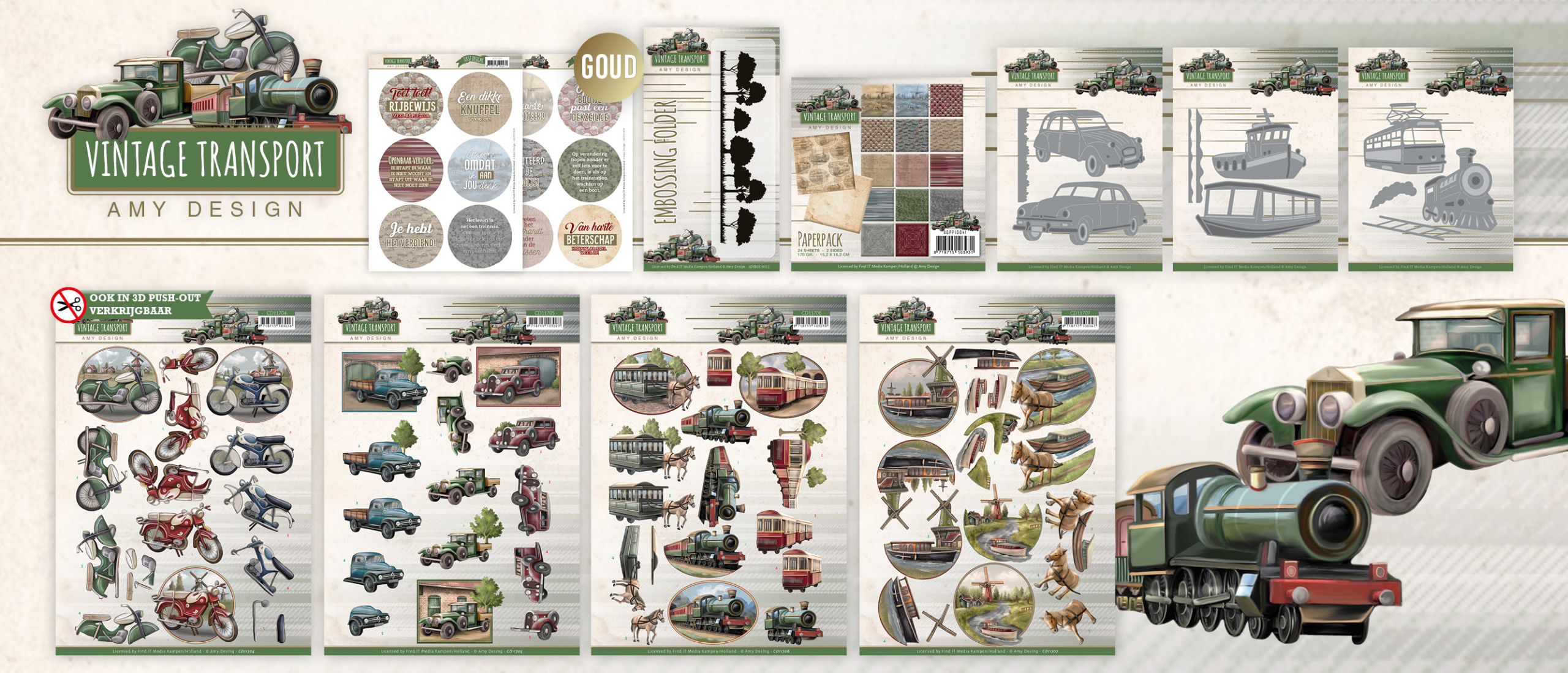 Collectie Vintage Transport - Amy Design