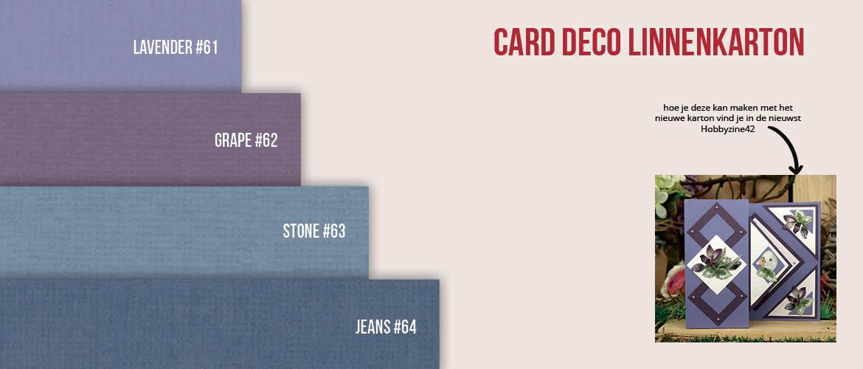 Linnenkarton Card Deco Essentials #61#62 #63 #64