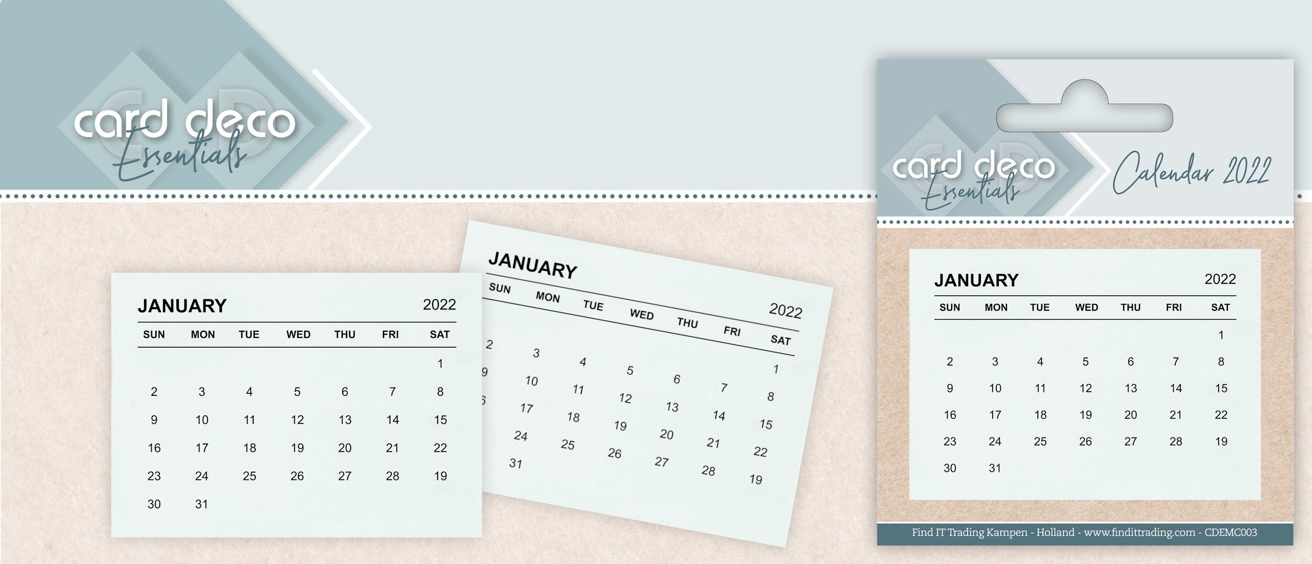 Calendar Tabs - Card Deco Essentials