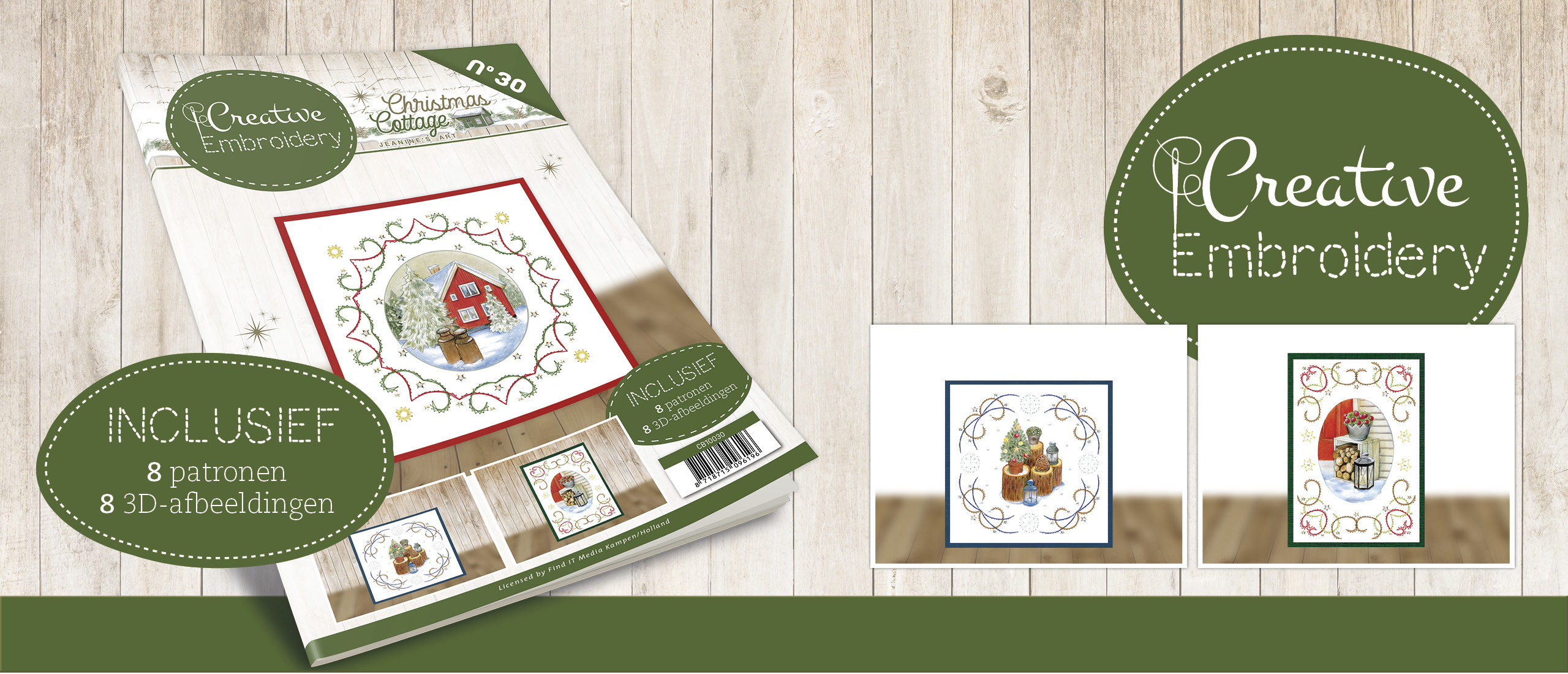 Creative Embroidery 30 - Jeanine's Art - Christmas Cottage