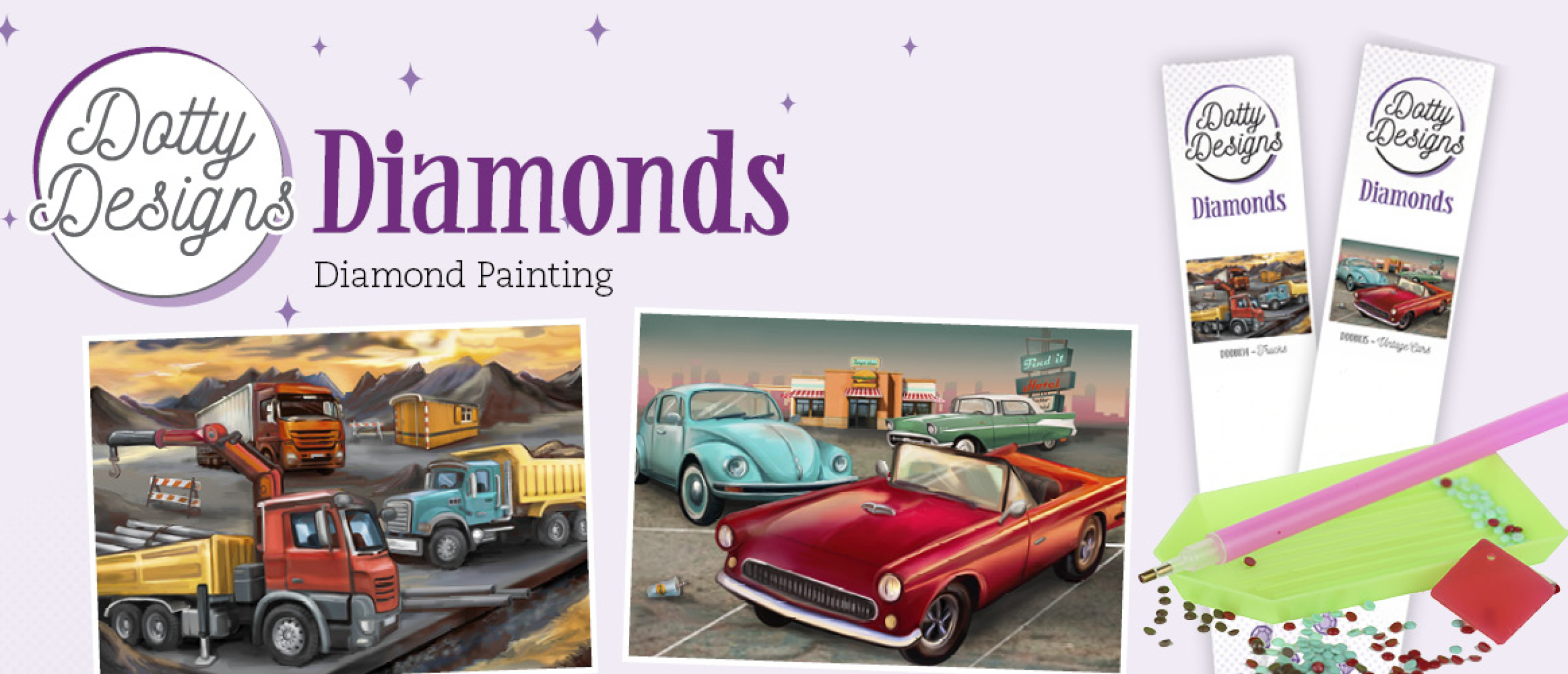 Dotty Designs Diamonds Vintage Cars en Trucks
