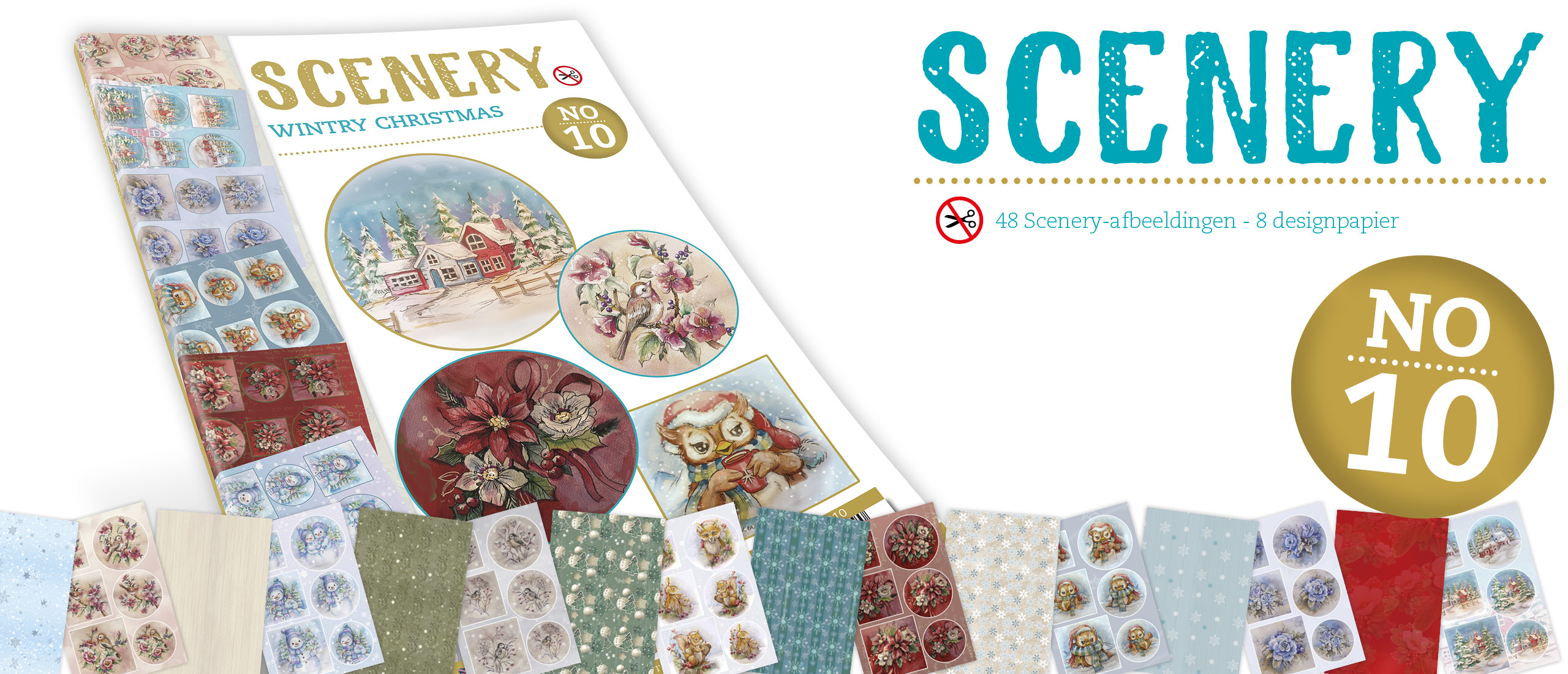 Push Out book Scenery 10 - Wintry Christmas (POS10010)
