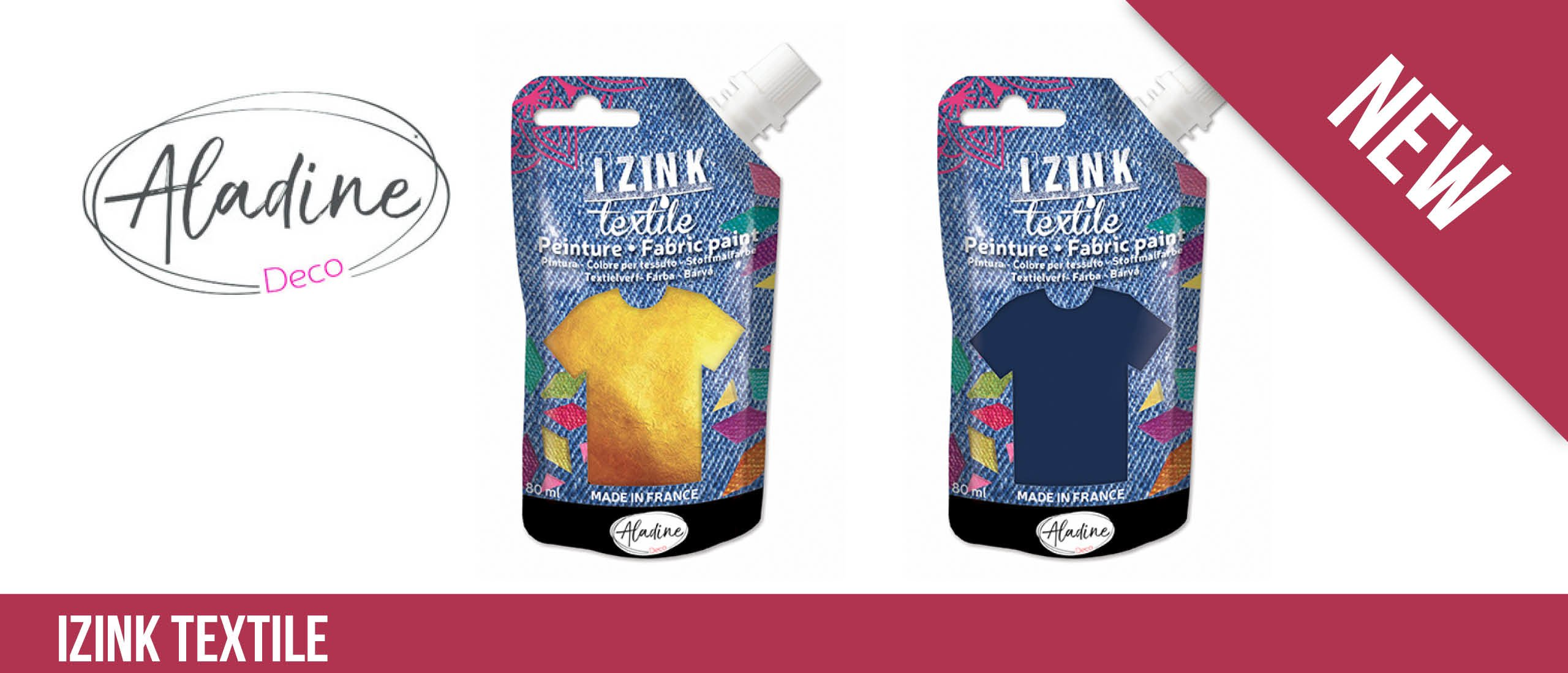 Textile Fabric Paint Paste Izink van Aladine