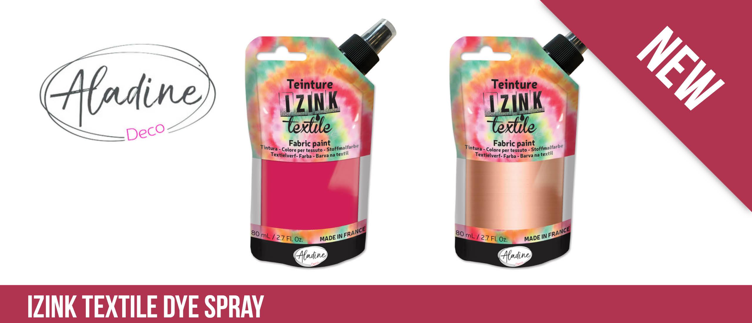 Textile Dye Spray Izink van Aladine
