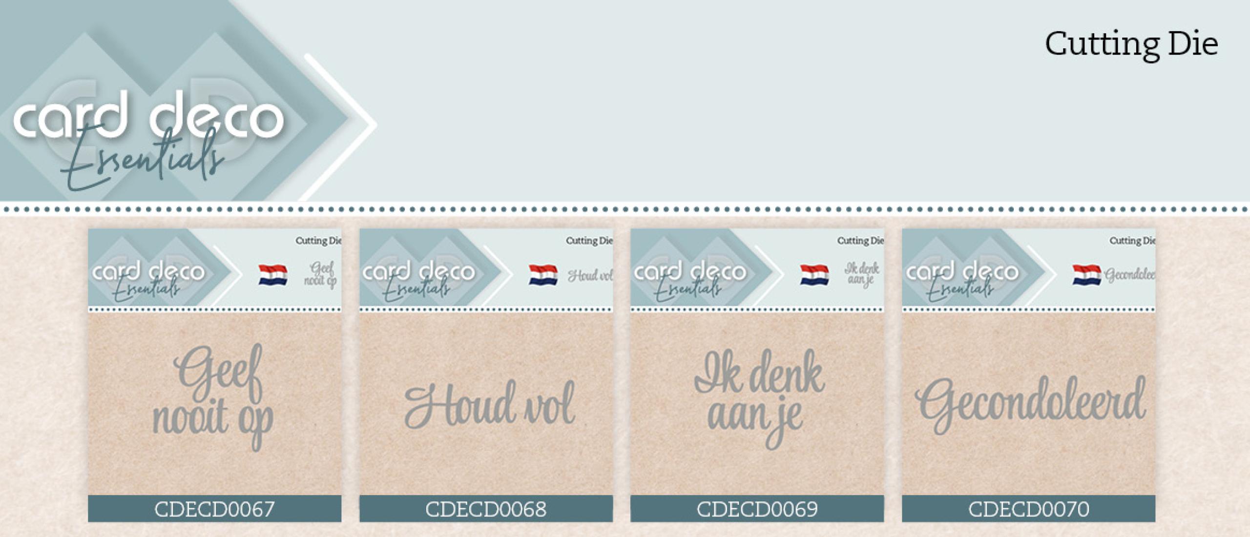 Card Deco Essentials Dies - CDECD67 t/m CDECD70