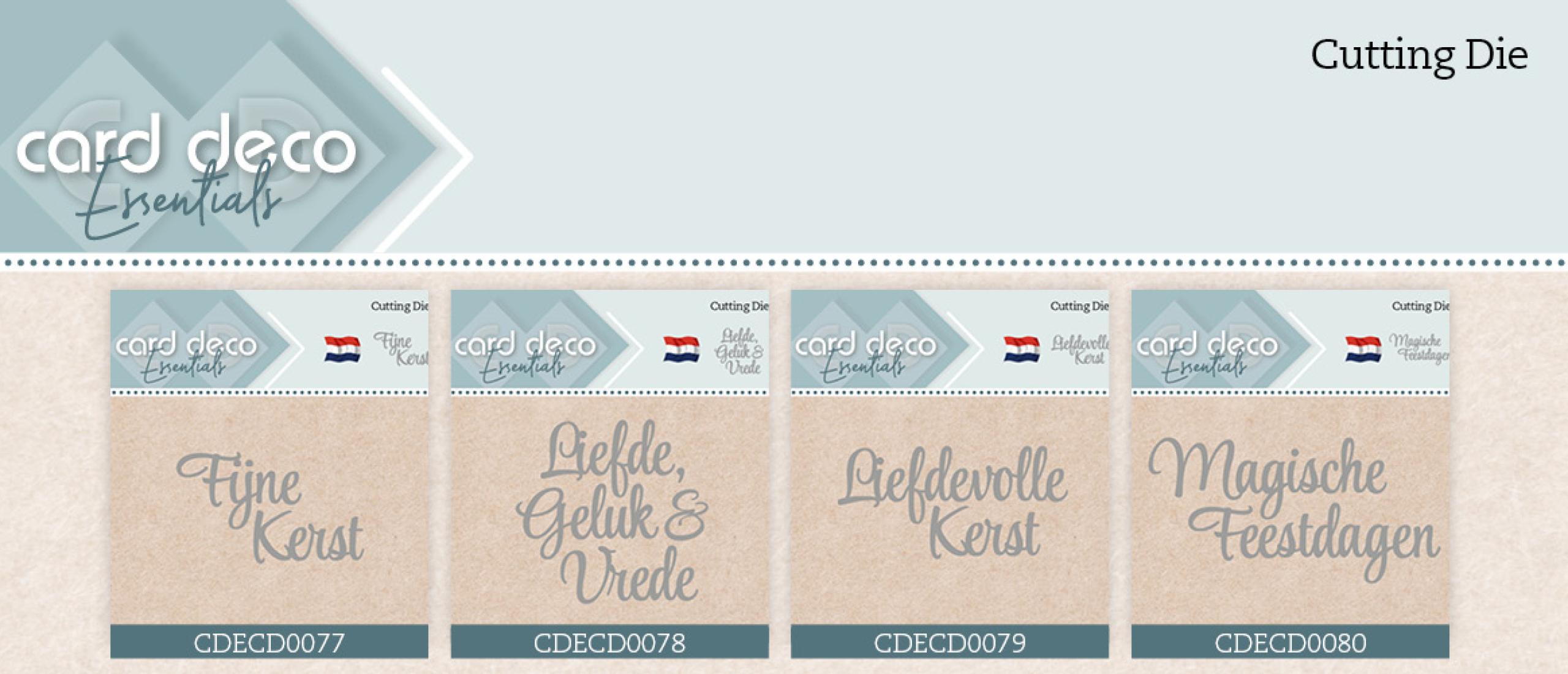 Card Deco Essentials - Dies CDECD0077  t/m CDECD0080
