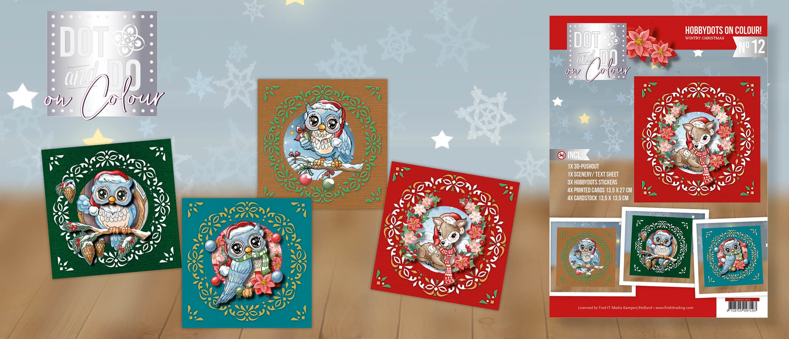 Dot and Do on Colour 12 Yvonne Creations Wintry Christmas