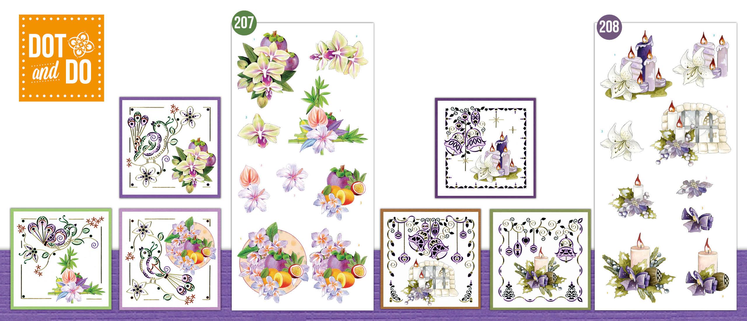 Dot and Do 207 en 208 Exotic Flowers en The Best Christmas Ever