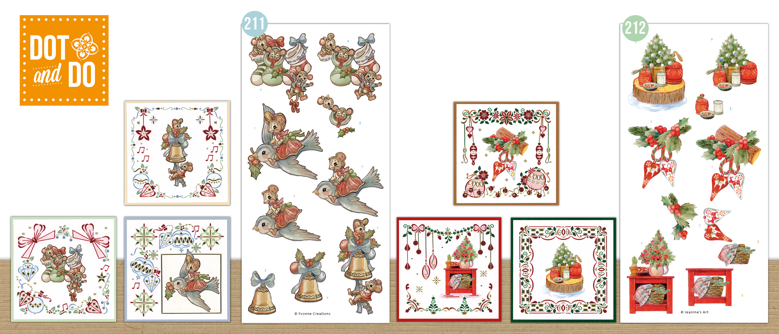 Dot and Do 211 en 212 - Have a Mice Christmas - Christmas Cottage