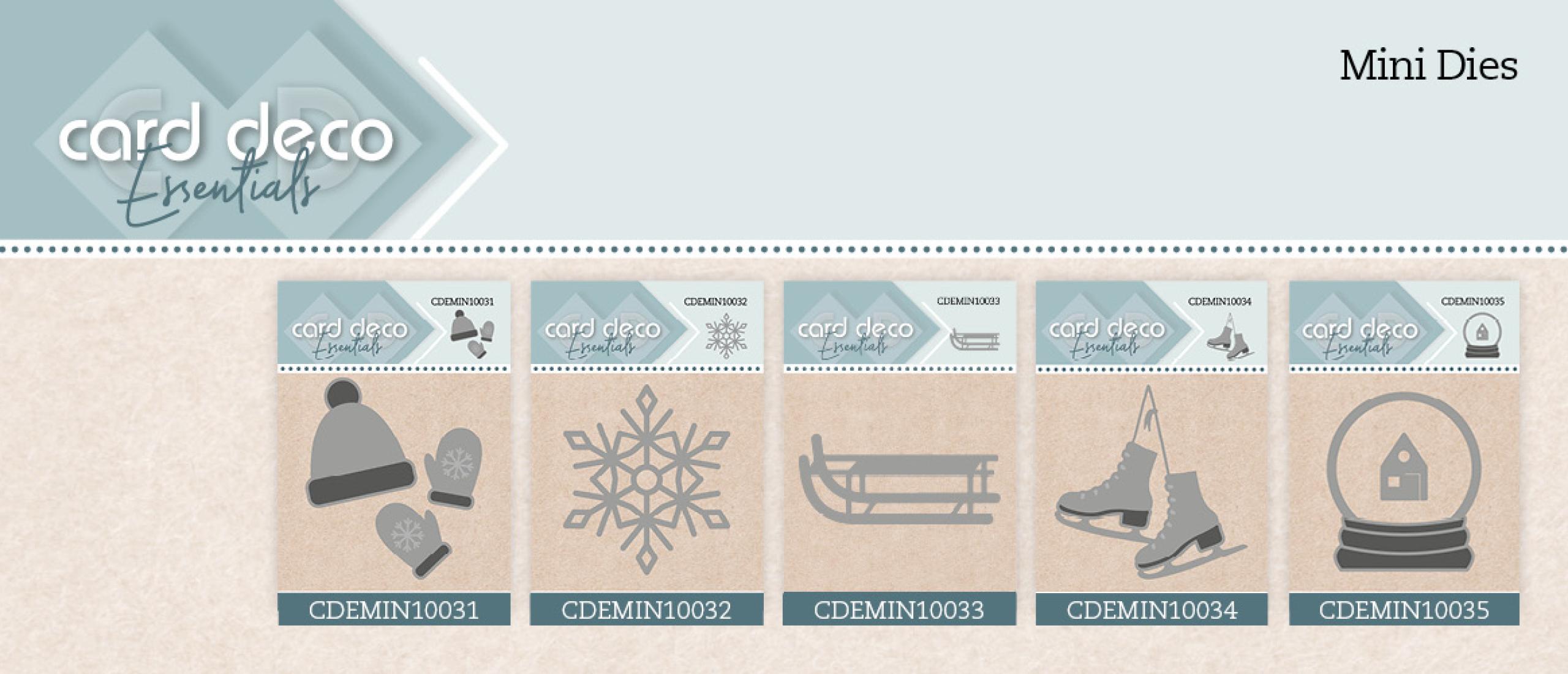 Mini-Dies Card Deco Essentials (CDEMIN10031 t/m CDEMIN10035)