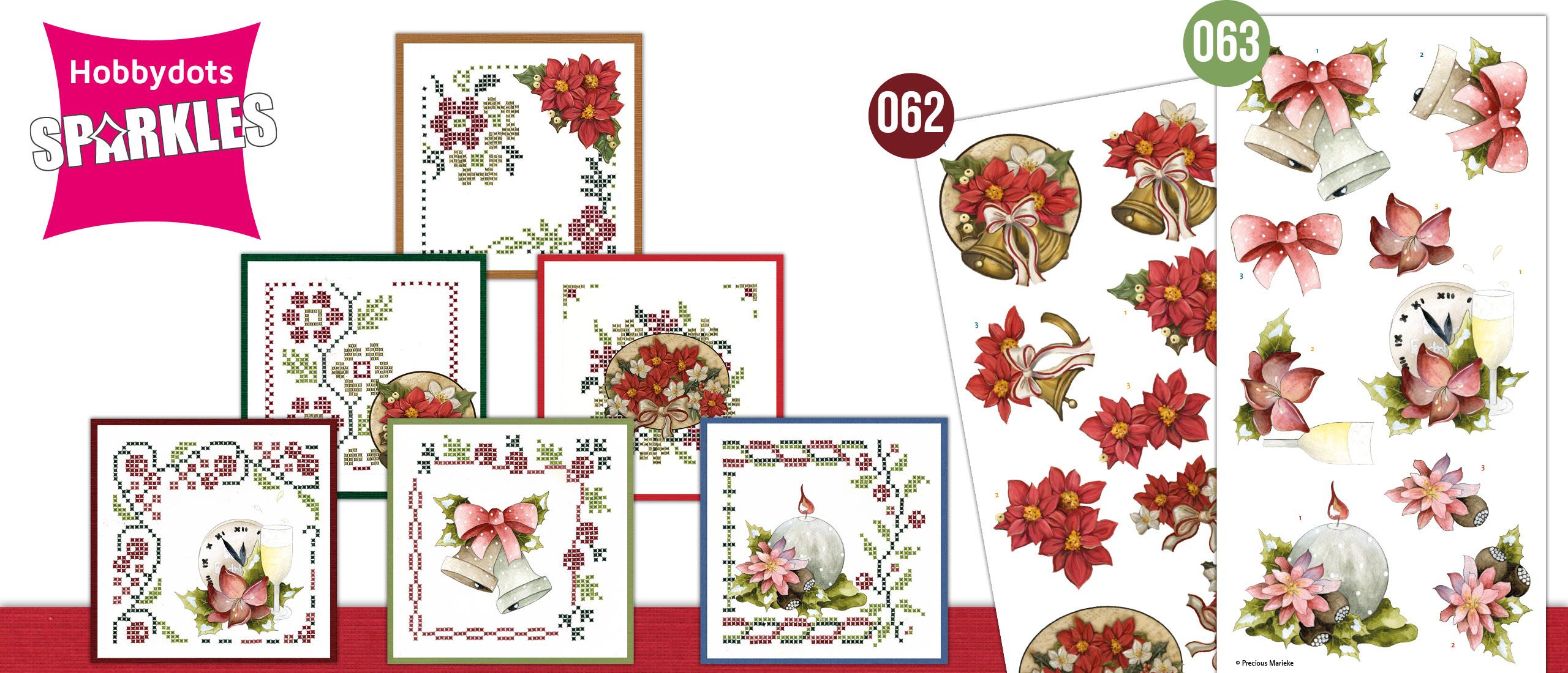 Sparkles Set 62 en 63 Poinsettia en Christmas Bells