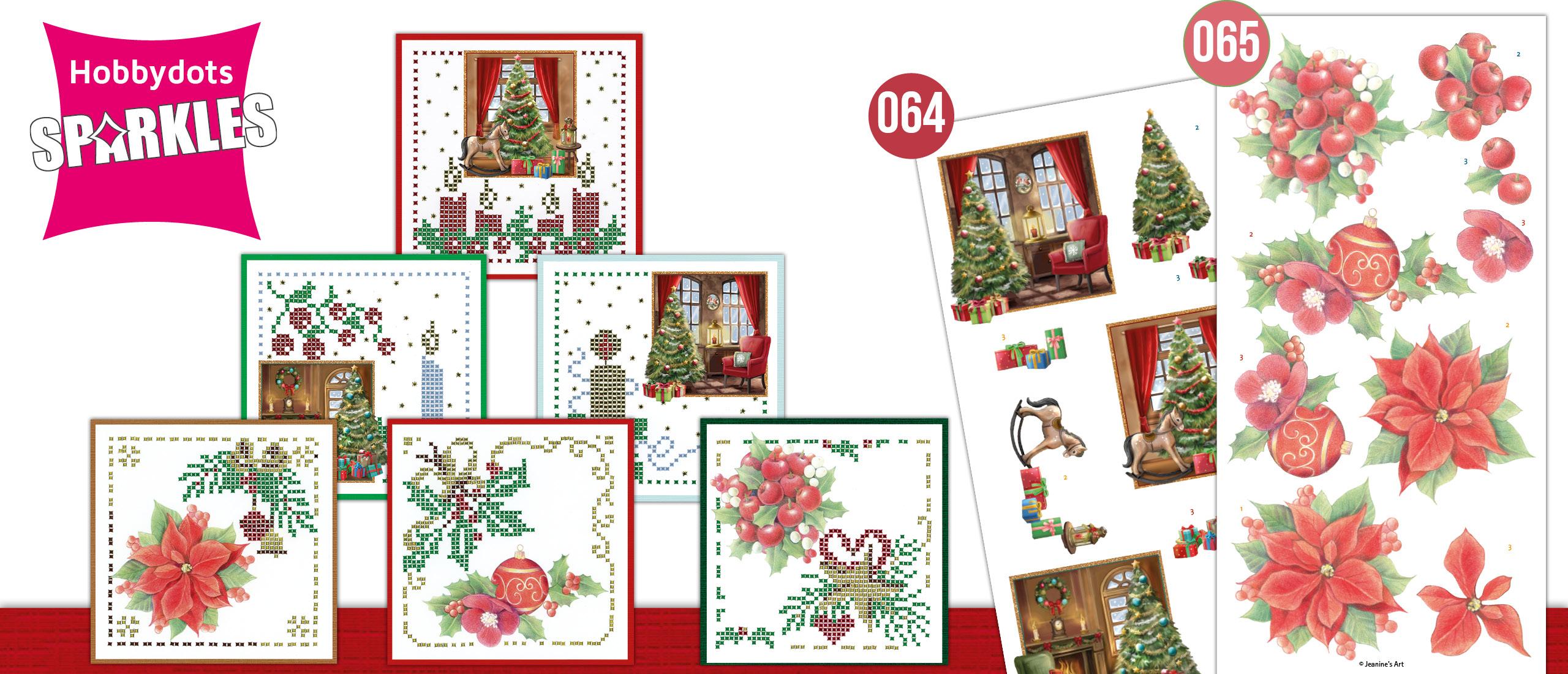 Sparkles Set 64 en 65 Christmas Home & Christmas Red Flowers SPDO064-SPDO65