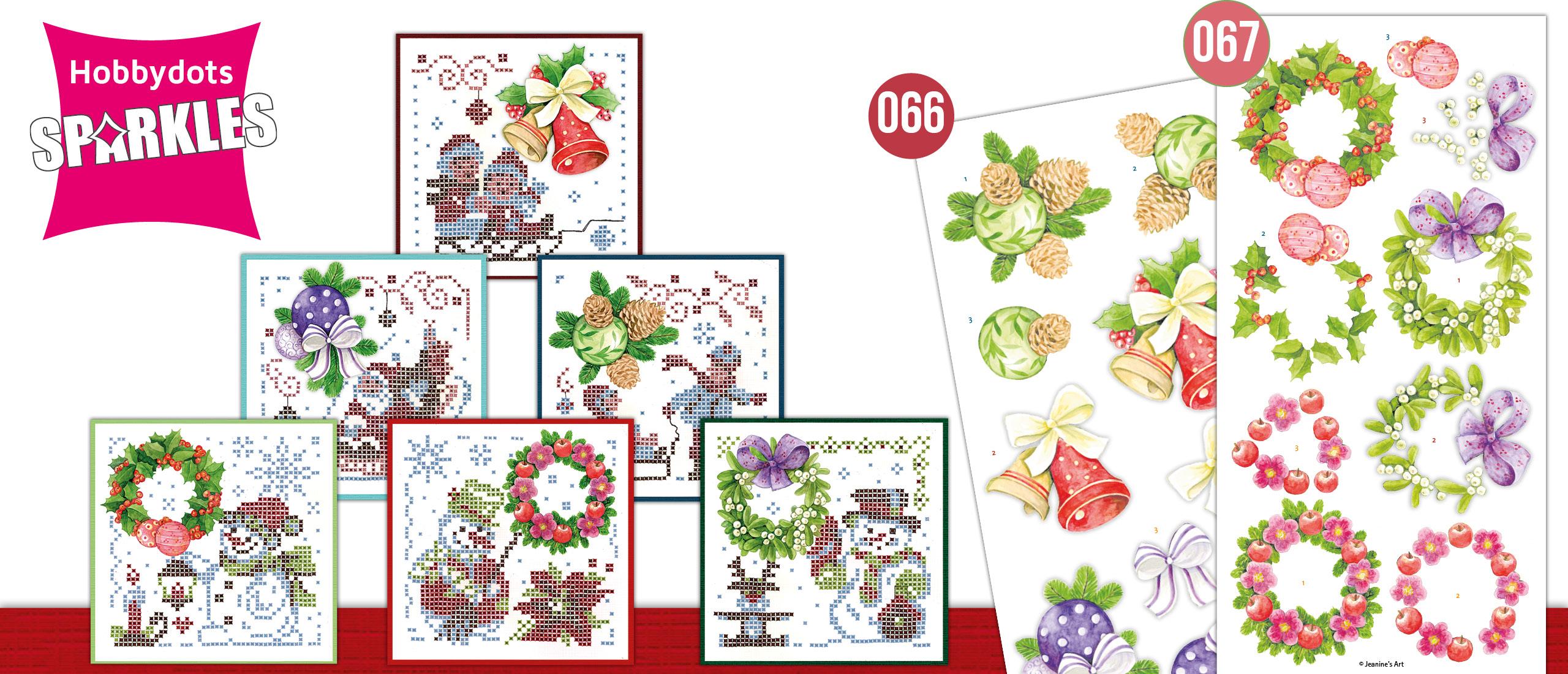 Sparkles Set 66- 67Jeanine's Art - Christmas Wreaths & Christmas Ornaments (SPDO066-SPDO066)