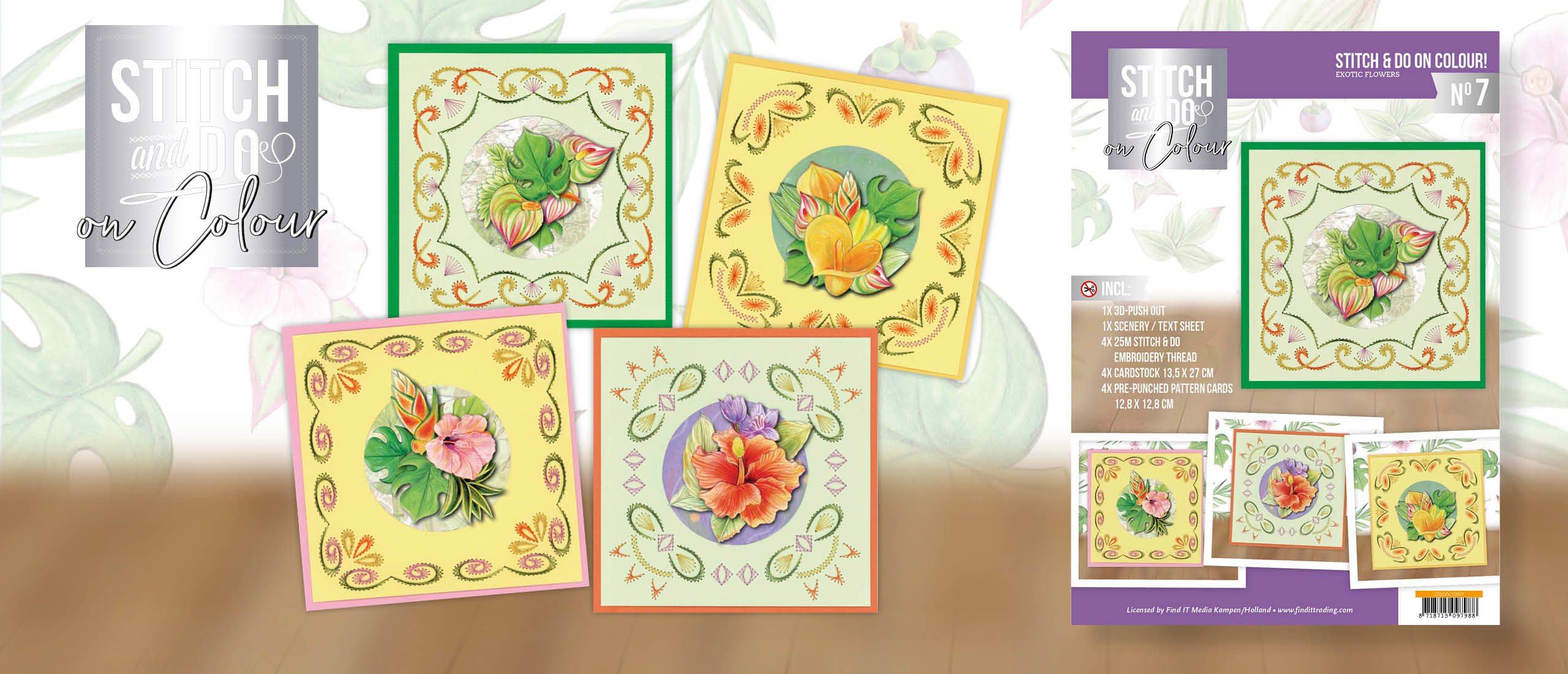 Stitch and Do on Colour 007 - Jeanine's Art - Exotic Flowers