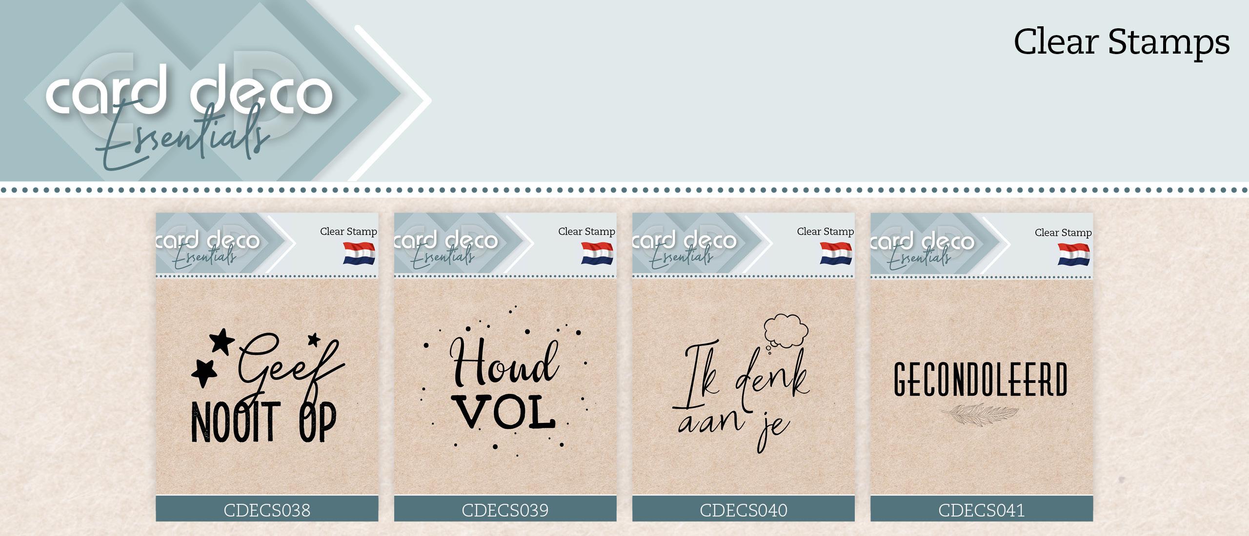 Card Deco Essentials Clearstamps CDECS038 t/m CDECS041