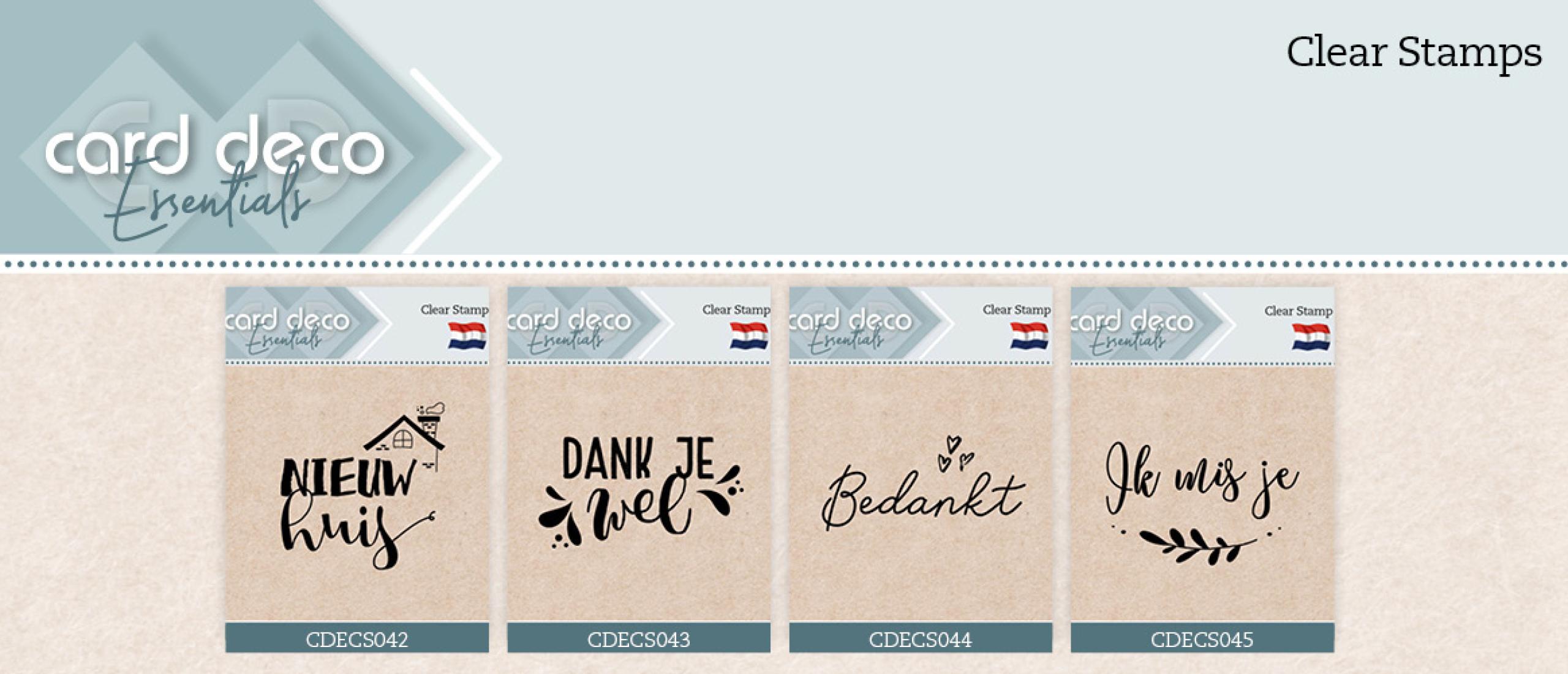 Card Deco Essentials - Clear Stamps CDECS042-CDECS045
